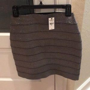 Silver Stretchy  Skirt